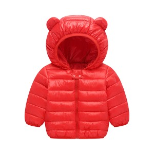 Cute Kids Printed Animal Prints Winter Wear Jacket - Dark Red