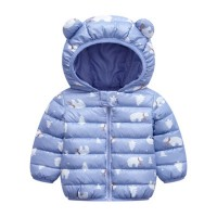 Cute Kids Printed Animal Prints Winter Wear Jacket - Light Purple