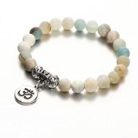 Handmade Turquoise Round Bead Yoga Bracelet - Multi Color
