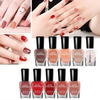 Ten Pieces Multicolor Water Resistant Party Special Nail Polish Set - Brown Shades