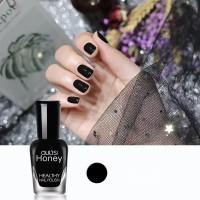 Shiny Water Resistant Full Coverage Women Fashion Nail Polish - Black