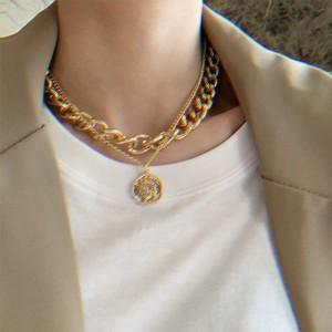 New Arrival Fashion Thick Chain Versatile Multi Layer Necklace - Golden