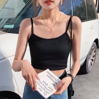 Fitted Sexy Wear Mini Summer Top - Black