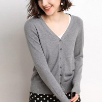 Button Closure Full Sleeves Winter Wear Sweater - Gray