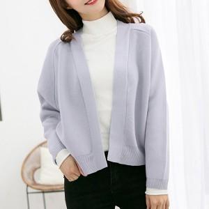 Full Sleeved Open Style Casual Wear Jacket - Gray
