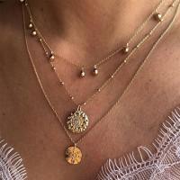 Ladies Bell Pendant Decoration Multilayer Necklace - Golden