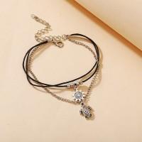 Bohemian Thread String Beach Wear Bracelets - Silver