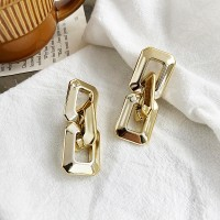Braid Style Gold Plated Hooked Women Fashion Ear Tops