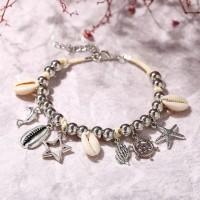 Bohemian Beach Carved Fancy Wear Bracelets - Silver