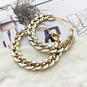 Braid Style Hooked Women Fashion Earrings Pair