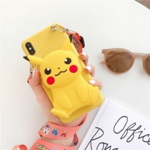 Embossed Soft Cartoon TPU Back Cover For iPhone Mobile Phones - Yellow