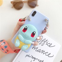 Embossed Soft Cartoon TPU Back Cover For iPhone Mobile Phones - Light Green