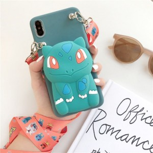 Embossed Soft Cartoon TPU Back Cover For iPhone Mobile Phones - Green