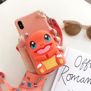 Embossed Soft Cartoon TPU Back Cover For iPhone Mobile Phones - Orange