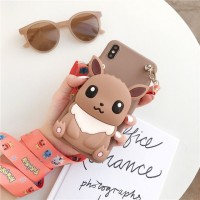 Embossed Soft Cartoon TPU Back Cover For iPhone Mobile Phones - Brown