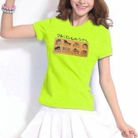 Printed Round Neck Short Sleeves T-Shirt - Green