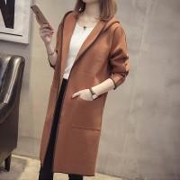 Hoodie Style Suede Women Fashion Outwear Jacket Coat