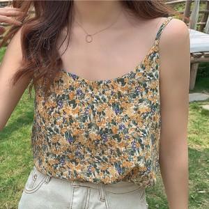 Printed Floral Elegant Wear Blouse Top - Yellow
