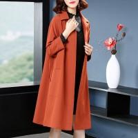 Shirt Collar Long Length Winter Wear Coat - Orange