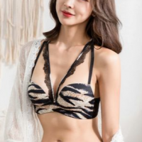 Tiger Pattern Printed Pull Over Sexy Wear Bra