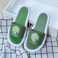 Floral Printed Soft Sole Women Fashion Slippers - Green