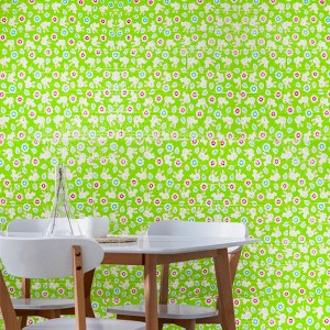 3D Textured Brick Home Decorative Easy Wall Adhesive Stickers - Floral