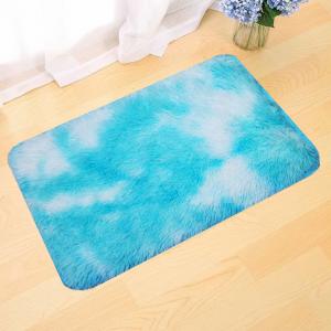 Fluffy Soft Home Decorative Door Mats - Sky Blue