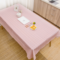 Check Prints Easy Clean Dining Table Cover - Pink - 137cm x 180cm