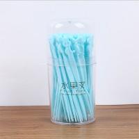 Kitchen Essentials Household Disposable Fruit Forks Set - Blue