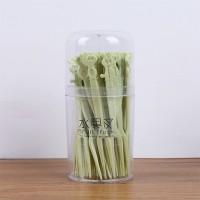 Kitchen Essentials Household Disposable Fruit Forks Set - Green