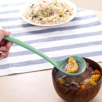 High Quality Plastic Cup Shaped Kitchen Pouring Spoon - Green