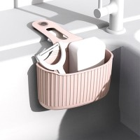 Easy Adhesive Kitchen Sink Side Rack - Pink
