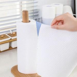 Disposable Kitchen Bathroom Household Cleaner Tissue Rolls