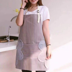 Printed Kitchen Essential Hot Oil Protective Safety Apron - Brown