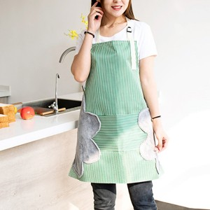 Printed Kitchen Essential Hot Oil Protective Safety Apron - Green