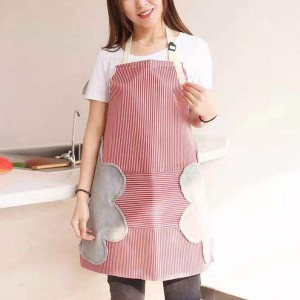 Printed Kitchen Essential Hot Oil Protective Safety Apron - Red