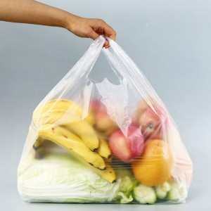 Transparent Thick Quality Plastic Shopping Bag Bags With Handle