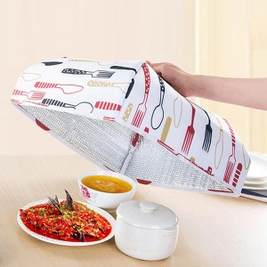 Printed Heat Preservation Food Protective Cover - Red