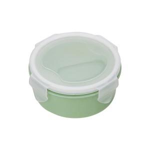 Air Tight Fancy Lunch Storage Round Box - Green