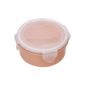 Air Tight Fancy Lunch Storage Round Box - Pink