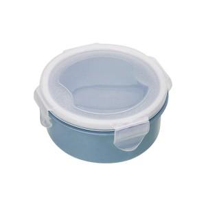 Air Tight Fancy Lunch Storage Round Box - Blue