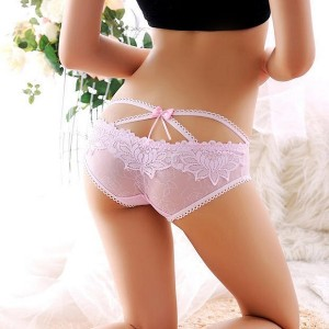 Women Buttocks Three Dimensional Sexy Lace Underwear - Pink
