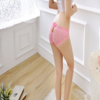 Women Ultra Thin Sexy Lace Underwear - Pink