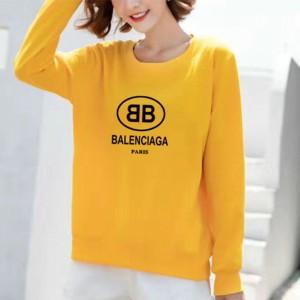 Alphabetic Printed Round Neck Fashion Wear Jumper Top - Yellow