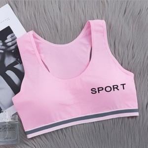 Teenage Girls Soft  Seamless Breathable Bra - Pink