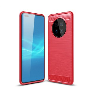 Silicon Hard Protective Huawei Smart Phone Case Cover - Red