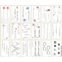 Singature Style Easy Adhesive Vintage Style Body Tattoo Stickers - Multicolor