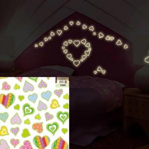 Rarity Reusable Heart Glow Stickers
