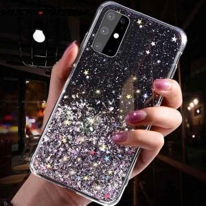 Sequins Decorative Transparent Protective Case For Samsung Series - Black