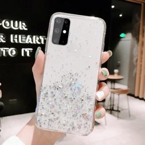 Sequins Decorative Transparent Protective Case For Samsung Series - White